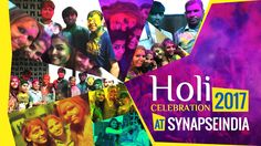 """Holi, the """"Festival of Colours"""" is celebrated with lots of colour and fun. This year the SynapseIndia team celebrated the festival with happiness, enjoyment and lot of colours. The employees came to the office dressed up in colourful attire. In the evening, we played with colours and tried to paint everyone with 'gulal' and 'abeer'. Many employees were busy taking pictures of each other. This was followed by a round of snacks to mark the wonderful end to the celebrations."""