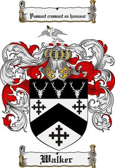 Walker Coat of Arms Walker Family Crest Instant Download - for sale, $7.99 at Scubbly
