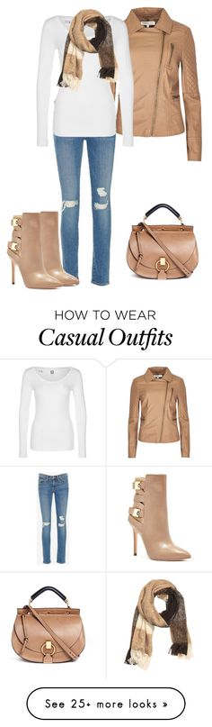 """Fall Casual"" by billi29 on Polyvore featuring Frame Denim, G-Star, Chloé, GUESS and H&M"