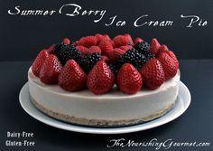 Summer Berry Ice Cream Pie - Gluten, Grain, and Dairy Free