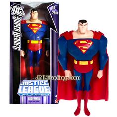 Mattel Year 2006 DC Super Heroes Justice League Unlimited Series 10 Inch Tall Action Figure - SUPERMAN (K0782)