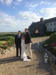 Couple meet #EricTrump on wedding day #TrumpDoonbeg