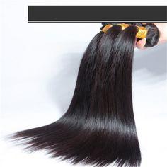 Virgin Hair Silky Straight Brazilian Hair Weft Cheap Price 1b# | Wholesale Hair Extension Factory
