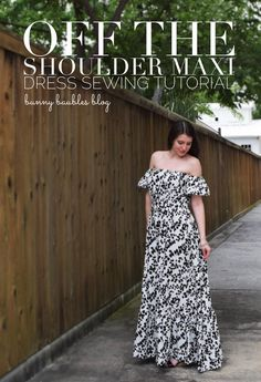 off the shoulder maxi dress by bunny baubles blog