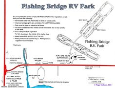 The total yellowstone canyon campground map page for Fishing bridge rv park yellowstone