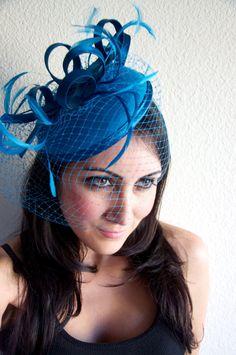 4637e1c6942 Mermaid Blue Fascinator -