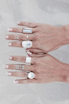 Anna Beck wide rings + other bands