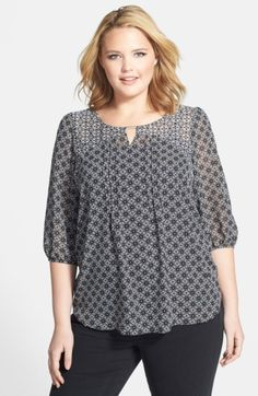 Free shipping and returns on Evans Mixed Print Gypsy Top (Plus Size) at Nordstrom.com. A cute keyhole and delicate pleats detail the bodice of a flowing gypsy top styled in contemporary reverse-color print.