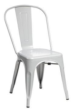 Krzesło Paris szare inspirowane Tolix ScandiShop.pl - Skandynawskie Inspiracje