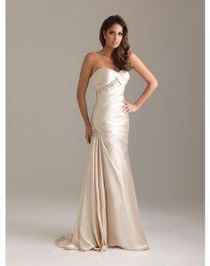 Trumpet / Mermaid Sweetheart Rhinestone Sleeveless Sweep / Brush Train Elastic Woven Satin Prom Dresses / Evening Dresses (SZ021638 )