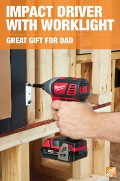 When Dad needs more power, give him the easy-to-use Milwaukee M18™ Impact Driver and Worklight Kit. This durable drill delivers 1500 in. lbs. of torque, up to 2750 RPM and allows you to work in tight spaces. The M18™ cordless LED worklight lets you continue working until the job is done. Click to learn more about this necessity for every DIYer.