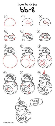 How to draw from STAR WARS. Simple drawing, step by step, perfect for children! Easy Drawings For Kids, Drawing For Kids, Painting For Kids, Cool Drawings, Cartoon Drawings, Painting Art, Drawing Ideas, Easy Drawing Tutorial, Venus Tattoo