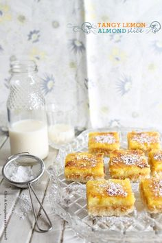 Chic & Gorgeous Treats: Tangy Lemon Almond Slice & A Sunshine Award