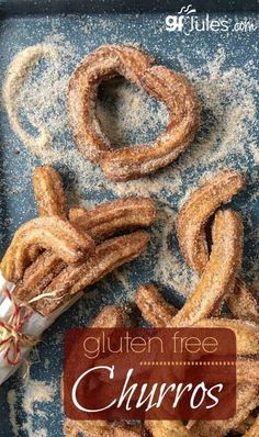 Gluten Free Churros as light and airy as you remember, and so easy to make! Even… Gluten Free Churros as light and airy as you remember, and so easy to make! Even heart-shaped, for a sweet Valentine's Day treat! Patisserie Sans Gluten, Dessert Sans Gluten, Bon Dessert, Sans Gluten Sans Lactose, Gluten Free Sweets, Gluten Free Cooking, Vegan Gluten Free, Gluten Free Recipes, Dairy Free