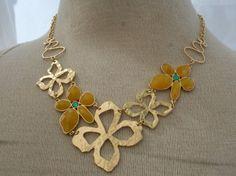 Gardenia Necklace by stylebandit on Etsy, $22.00