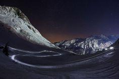 En trineo por los Alpes