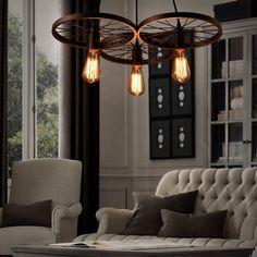 Lixada Retro Pendelleuchte Ministil Rustikal/ Ländlich/Vintage/Insel Für  Wohnzimmer Schlafzimmer Esszimmer: Amazon.de: Beleuchtung