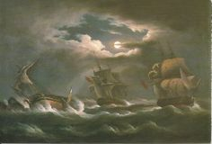 The Detroits De L'Homme driven ashore in Audierne Bay, Brittany, 13th January 1797 by Thomas Luny (1759-1837)