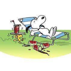 Sunning Snoopy