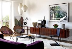 '70s style in this flat in Milan / Stile anni '70 in questa casa a Milano