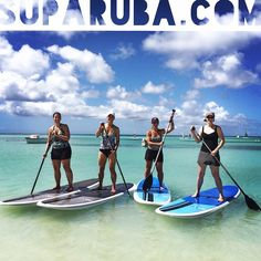 The ladies from Chicago had a blast learning how to paddleboard at Stand Up Paddle Aruba!    www.SUPARUBA.com
