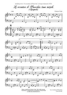 [Spartiti Pianoforte] - Le Avventure Di Pinocchio - Fiorenzo Carpi (1972)