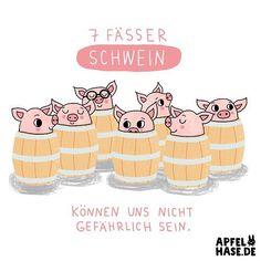"""Wortwitz Donnerstag! Piggy pun! """"Seven barrels of swine"""" #365doodlesmitjohanna #schweine #schwein #pig #swine #piggy #drawing #illustration #illustratorsoninstagram #daily #dailyart #draweveryday #draw #zeichnen #barrel #fass #fässer #schlager #rolandkaiser #challenge #creative #cute #love #apfelhase #wortspiel #wortwitz #pun #doodle"""
