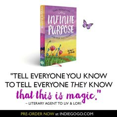 Only a few more days to pre-order the amazing #infinitepurpose book from @loriportka and @liv_lane  They have such divine perks too and are mighty close to their goal with just 3 days to go!! Let's help them reach it (and get this divine book in the process)!