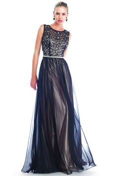 Lace Overlay Sleeveless Top & Tulle Long Skirt Mother Evening Dress