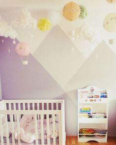 Kinderzimmer ° Kids Room ° Scaninavian Style ° Wolken ° Heißluftballons