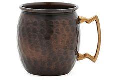 S/2 Antique Copper Mugs on OneKingsLane.com