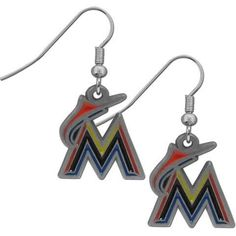 Miami Marlins MLB Dangle Earrings
