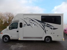 This 2005 Renault Master horsebox travels up to two horses and is currently for sale at £17,500 | For sale on HorseDeals.co.uk