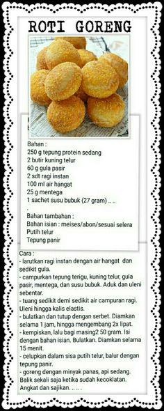 Roti Goreng Cake Recipes, Snack Recipes, Dessert Recipes, Cooking Recipes, Roti Bread, Bread Cake, Food Garnishes, Bread And Pastries, Simply Recipes