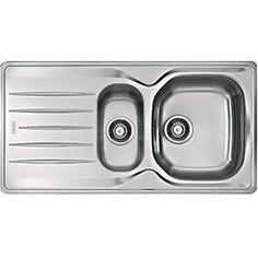 ENKI KT062 Dual Flow Kitchen Sink Mixer Tap Twin Ceramic White Lever Black Georgian Traditional Dorchester