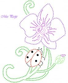 orchidee bloemen Embroidery Cards, Embroidery Stitches, Embroidery Patterns, Hand Embroidery, Candlewicking Patterns, Stitching On Paper, Sewing Cards, Prego, Dot Art Painting