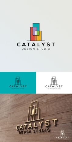 architecture logo Modern logo by DonnDesign for Catalyst design studio. Colorful and abstract geometric shapes create a sophisticated and timeless design. Architecture Design Concept, Architecture Logo, Architecture Portfolio, Landscape Architecture, Architecture Graphics, Residential Architecture, Parametric Architecture, Origami Architecture, Architecture Sketchbook