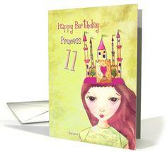 happy 11th birthday princess card