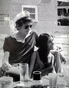 Bob Dylan with Mimi Farina (sister of Joan Baez) - 1963