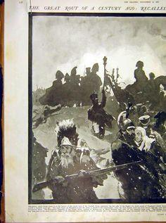 Napoleon Beresina Old Print 1912