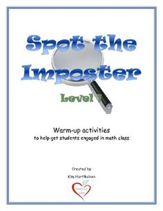 The activities in this resource are intended to be used as a warm-up (or wrap-up) activity in the math classroom. They are designed to get students...