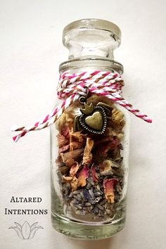 How to Raise Your Home's Vibration With Spell Bottles – Altared Intentions Sel Rose, Jar Spells, Healing Spells, Strawberry Leaves, Witch Bottles, Herbal Magic, Magic Herbs, Clove Essential Oil, Witch Spell
