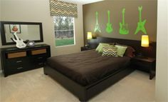 Rock n Roll bedroom in the Merlot Bonus at Glenlaurel Estates in Jacksonville, FL