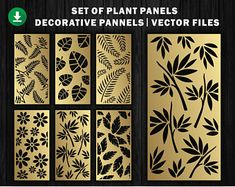 6 Natural Texture for laser / plasma / CNC for decorative partitions panel screen. File good quality tested at machine cnc.