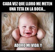 Memes en español, chistes cortos y humor. Cute Jokes, Funny Jokes, Fun Meme, That's Hilarious, Fun Funny, Funny Shit, Breastfeeding Meme, Gender Neutral Baby, Pregnancy Humor
