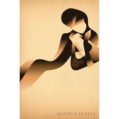 Mads Berg 'Bottega Venet' Art Deco Danish Poster (135 CAD) ❤ liked on Polyvore featuring home, home decor, wall art, cartoon illustration, cartoon posters, comic book wall art, comic book posters and comic posters