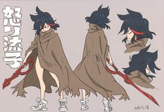 Cartoon Retro: artbooksnat: Kill la Kill (キルラキル) Character...