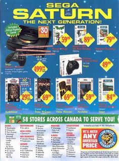 """Look at those """"Great"""" prices on the Sega Saturn (Try adjusting those prices for inflation!)"""