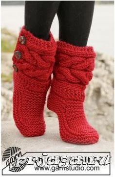 FavoriteIndoor Knitted Slippers, Knitted Boots, Women's Slippers, Christmas Slippers, Gestrickte Hausschuhe is part of Knitting and Crochet Slippers - Thethriftywolf Thank you for stopping by and supporting my work! Crochet Slipper Boots, Knit Boots, Knitted Slippers, Red Slippers, Knitting Patterns Free, Free Knitting, Free Crochet, Knit Crochet, Free Pattern