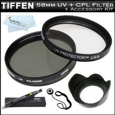 Tiffen 58mm Circular Polarizer Filter (CPL) + Tiffen 58mm UV Protection Filter For Canon Digital EOS Rebel T3i, T3, T1i, T2i, XS, XSi Digital SLR Cameras Which Use Any Of These (18-55mm, 75-300mm, 50mm 1.4 , 55-200mm) Canon Lenses + Lens Hood + Lens Pen + (Electronics)  http://www.picter.org/?p=B006C9P8Z0